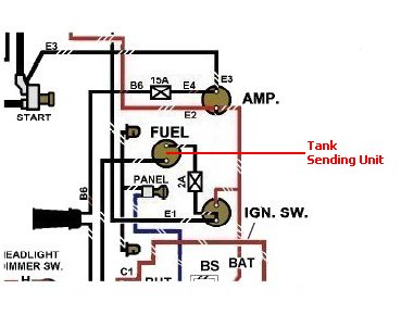 ford fuel sending unit wiring wiring diagram  ford gpw wiring #11